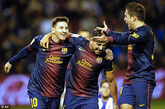 Scores when he wants: Lionel Messi found the net an incredible 91 times in 2012