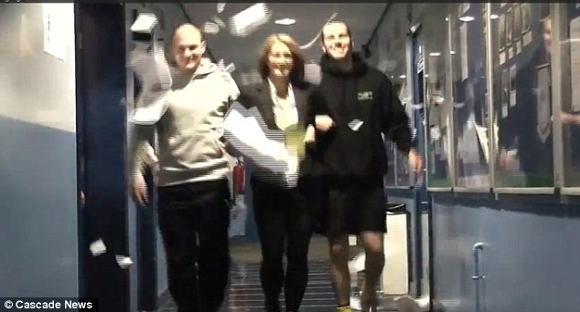 Staff dance down the school corridors in the parody of Psy's hit song Gangnam-style