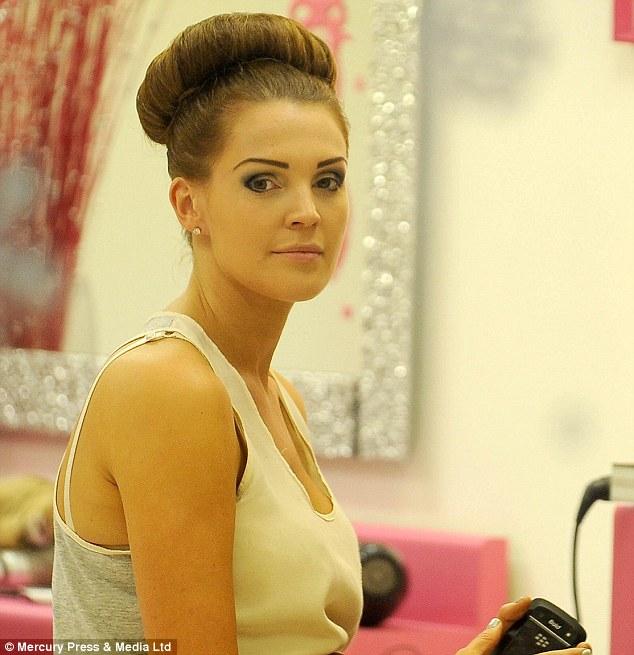 Ready to ring in 2013: The WAG's make-up looks amazing, now all she needs is the dress