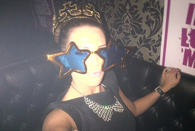 Stars in her eyes! Danielle O'Hara looked decidedly glam, even in her strange glasses and crown