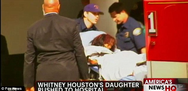 Scares: Fears were growing for Whitney Houston's 18-year-old daughter Bobbi Kristina after she was rushed to the hospital twice in the 24 hours following the discovery of her mother¿s dead body