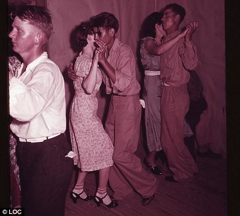 The Photos were taken during a square dance in McIntosh County in central Oklahoma by 'New Deal-era' shutterbugs working for the Farm Security Administration and, later, the Office of War Information