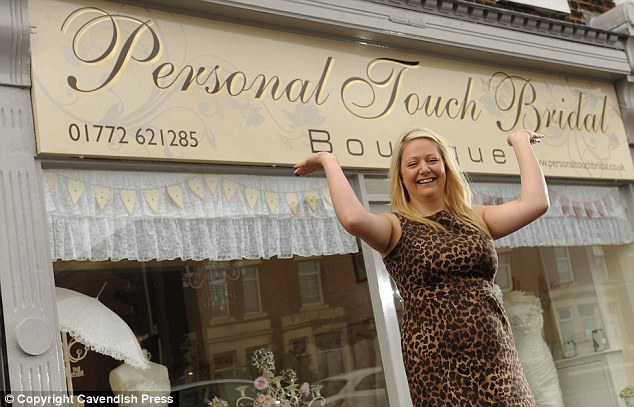 Her own: Personal Touch Bridal Boutique is Jenny's pride and joy