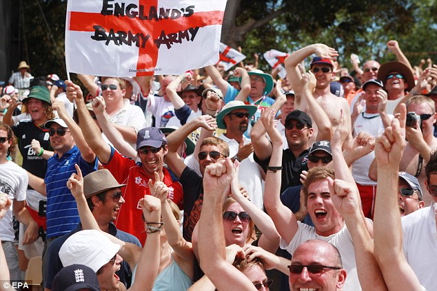 Barmy army: England's travelling support are sure to be in full voice in Australia