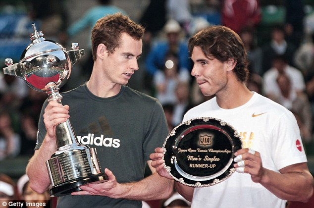 Old rivals: Murray and Nadal (right) have played out some epic matches in the past