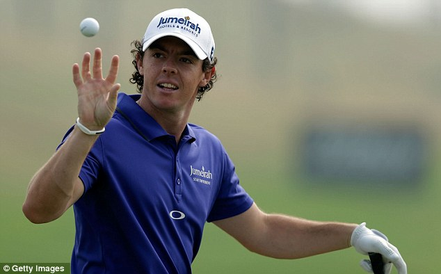 Three's the charm: Rory McIlroy will be looking to add the Masters to his Major haul in April