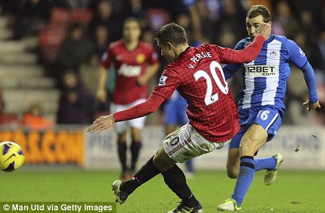 Too good: Van Persie took his tally for the season to 19 goals