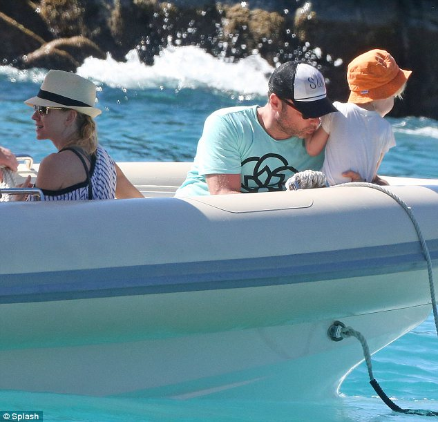 Family fun: The stars and their children certainly looked like they were admiring the scenery during their tropical getaway