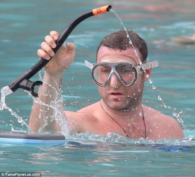 Underwater explorer: Liev tried to spot fishes with the help of a snorkel