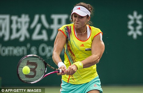 Over and out: Laura Robson was beaten in straight sets in China