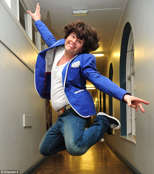 Garishly camp with a great spiky humour: Alan Carr as Harry Styles seen in a sketch on his New Year's Eve show