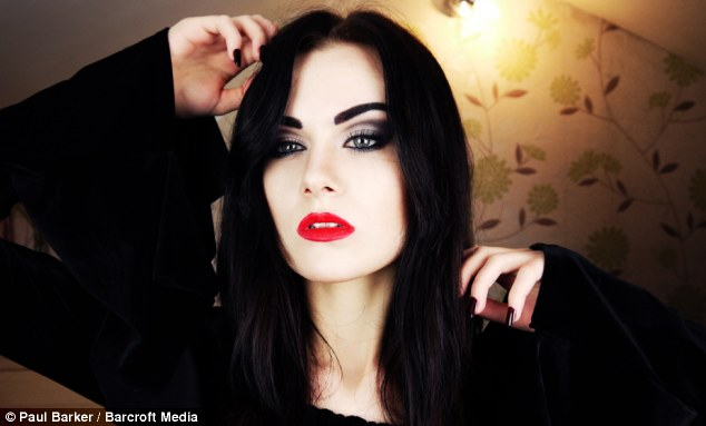 Inspiration: Emma, as Morticia Addams, now have thousands subscribing to her channel and hopes to work with film and television makeup