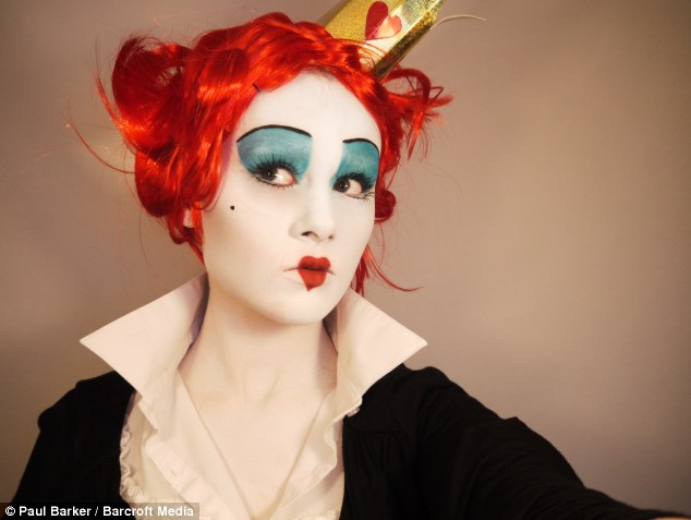 Queen of YouTube: The formerly shy teen turned into the Red Queen from Alice in Wonderland for her first video which she posted a year ago