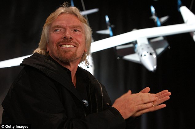 Prospect: Sir Richard Branson hopes the spaceship will be the first to ferry paying passengers into space on a regular schedule