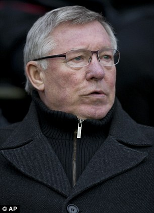 Happy: Sir Alex Ferguson was delighted with Van Persie's contribution