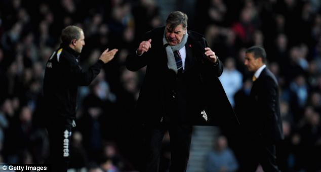 Allardyce is annoyed his strikers have been less than prolific in front of goal recently
