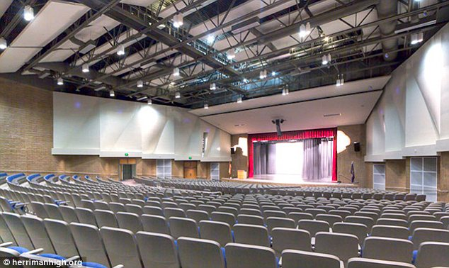 Abandoned: The theatre at Herriman High School where rehearsals have been terminated despite the show having been green lit a year ago