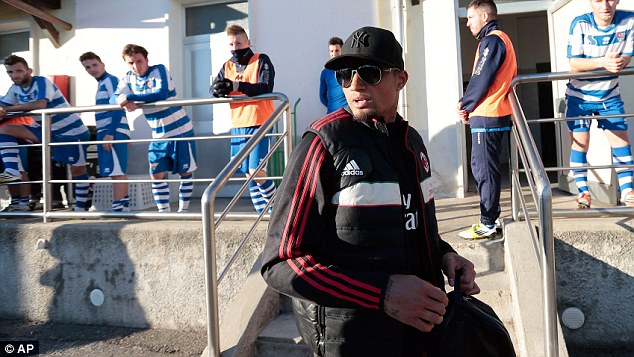 No regrets: Boateng has said he will walk off during a Champions League match if he is racially abused again