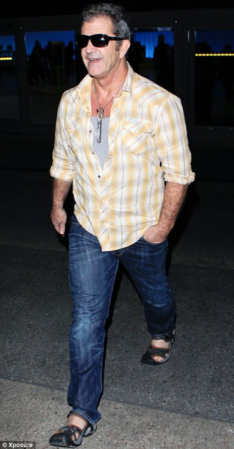Famous son: Mel Gibson's father, now 94, surprised many when he filed for divorce at the age of 93. Mel is pictured here last month