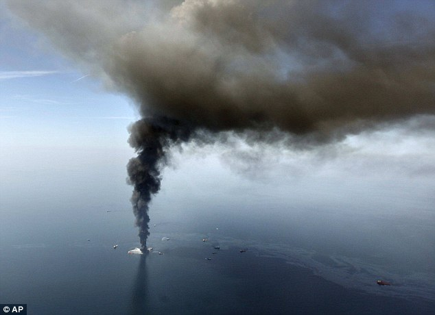 Blame: Swiss-based Transocean, which leased the rig to BP, has been fined $1.4billion after admitting its role in the disaster