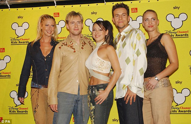 Back then? Her fans from her heyday will recognise her with her Steps bandmates, pictured here on the right in 2001