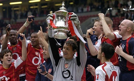 Back in the day: Arsenal last won a trophy in 2005 thanks to the FA Cup