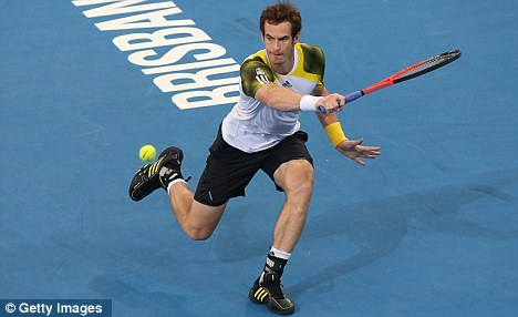 Ready for it: Andy Murray in action at the Brisbane International