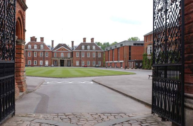 Privately educated: The comedian went to the £24,000-a-year Marlborough College in Wiltshire