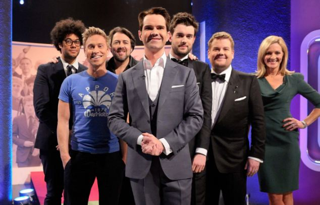 Outrage: Whitehall appeared with other comedians, including Jimmy Carr, Russell Howard and James Corden