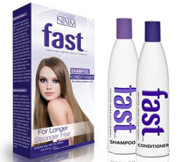 Demand: The makers of FAST shampoo and hair conditioner claim it can make hair grow by up to two inches extra a month