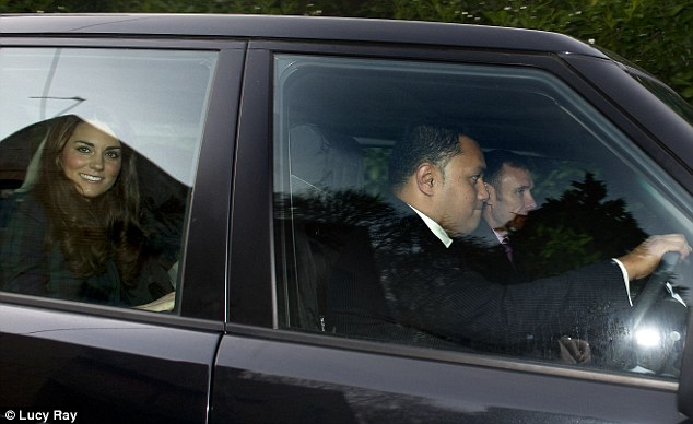 Royal role: The Duke and Duchess of Cambridge's new orderly driving Kate to St Andrew's School in Pangbourne in November