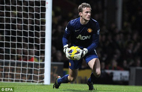 At home: Dane Lindegaard is content at the Premier League club