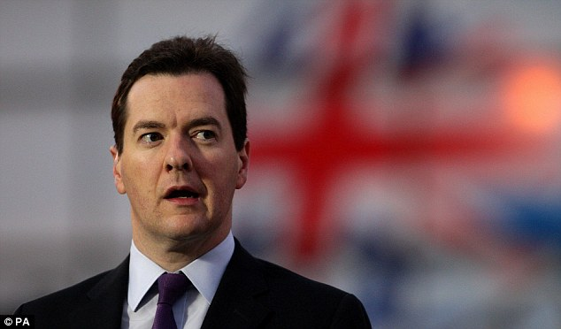 Attack: The Chancellor attacked Labour's opposition to the Coalition's plans and said 'every single working household in the UK would pay almost £5,000 more to fund Labour¿s higher welfare bills'