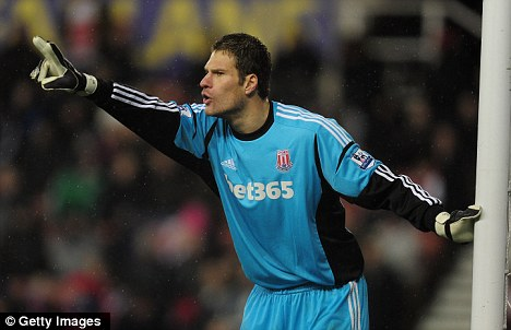 Staying put: Asmir Begovic won't be heading to Manchester United