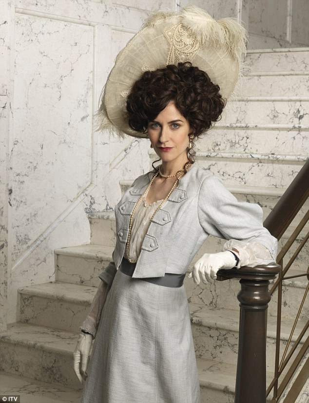Corrie to classy: Katherine Kelly starred in Mr Selfridge appearing as socialite Lady Mae Loxley
