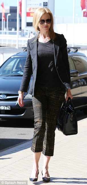 Style wanderer: NIcole departed from Sydney to Paris three days ago looking every bit the fashionable jet setter