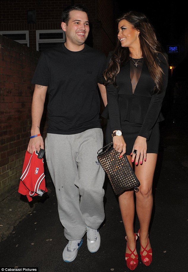 Nice of him to make the effort: In spite of Ricky's somewhat scruffy appearance, Jessica looked utterly besotted with her man as the couple headed to 195 club in Epping