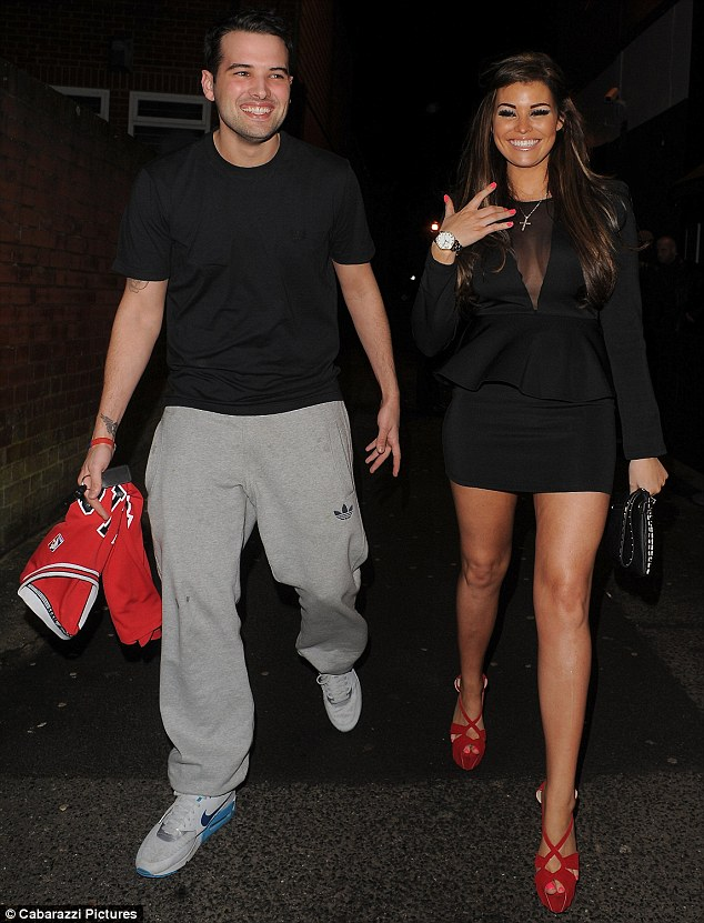 Lady and the tramp: Jessica Wright well and truly upstaged Ricky Rayment with her sexy choice of outfit as the couple stepped out on a date night on Saturday evening