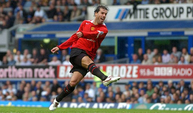 Goal machine: Van Nistelrooy had five successful seasons at Manchester United
