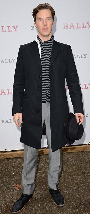Actor Benedict Cumberbatch attends the BALLY Celebrates 60 Years of Conquering Everest event today at Bedford Square Gardens in London