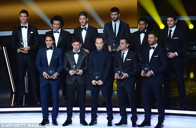 What a team: The Team of the Year was made up entirely of La Liga players