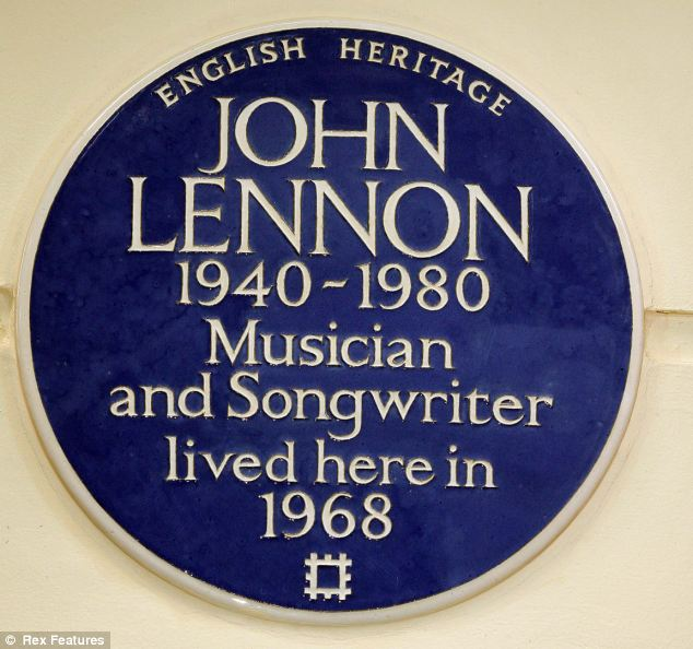 The blue plaque scheme has been going since the 1860s. It has survived two world wars and the Great Depression. Pictured is the plaque marking the former home of John Lennon in London
