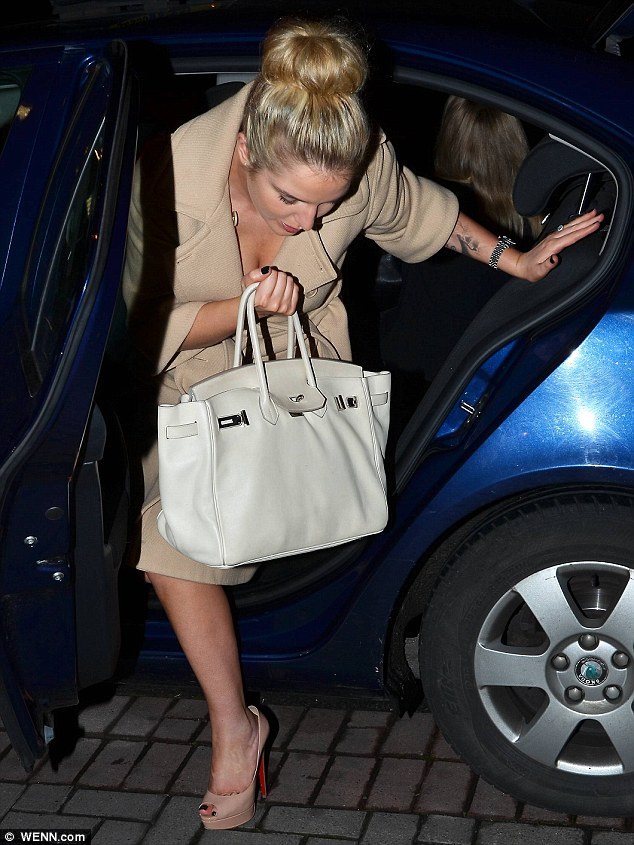 She made it: Helen wore a demure ensemble as she arrived at the RTE studios in Dublin to film Wagons Den