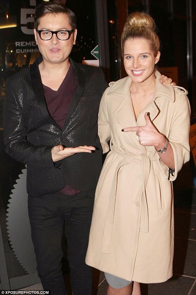 Rubbing shoulders: Celebrity Big Brother host Brian Dowling was also in attendance