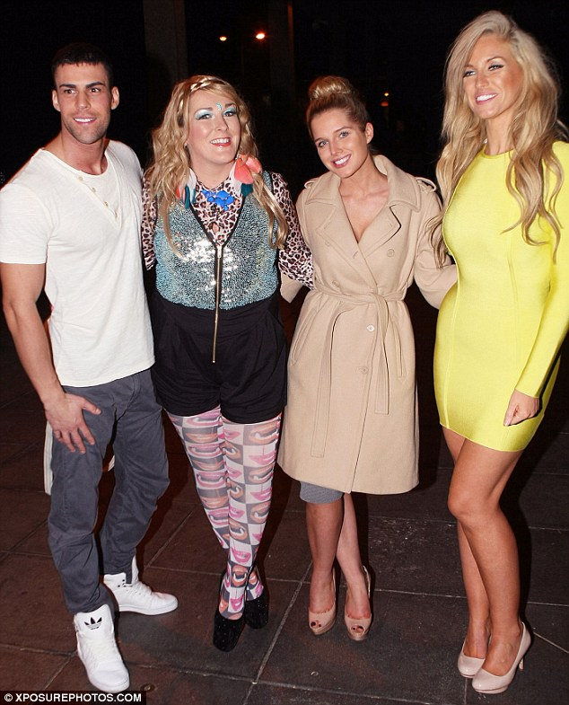 Mingling: Helen also posed for a picture with other guests on the show Josie Gibson and Jay Gardner