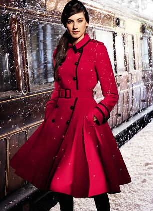 Best-sellers: Jonathan Saunders Edition red coat was its fastest-selling coat ever after appearing in the 'Christmas Made Fabulous' television adverts, while lingerie sales were up 14 per cent
