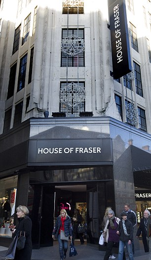 House of Fraser defied the gloom on the high street over the Christmas period