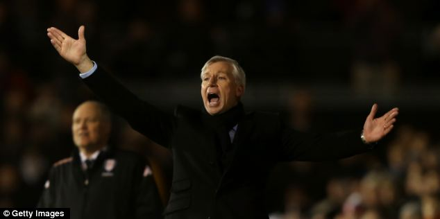 Alan Pardew has been hampered by injuries this season