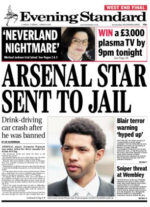 Jermaine Pennant jailed for drink-driving