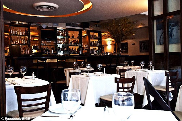 Swanky diner: BiCE, located in Midtown Manhattan, expects the pasta dish will be a hit with customers